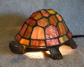 Turtle Nightlight - Accent Lamp - Stained Glass