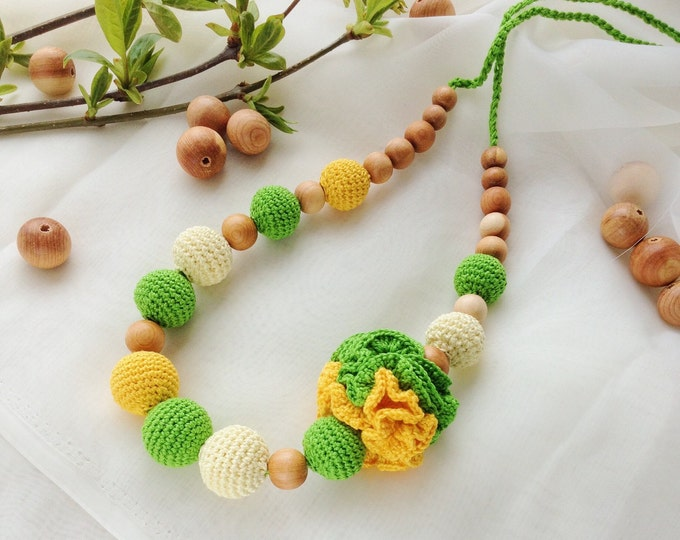 Nursing necklace / Teething necklace / Breastfeeding necklace / Babywearing necklace - Spring day