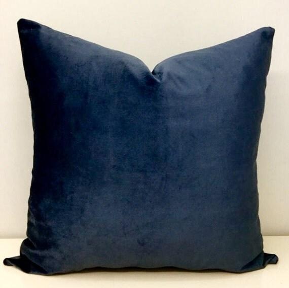 Deep Blue Throw Pillows : Deep Blue Velvet Pillow Covers Velvet Pillow by artdecopillow