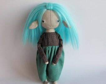 OOAK Art Doll Fairy, Fantasy Doll Fairy, Forest Fairy, Elf Doll