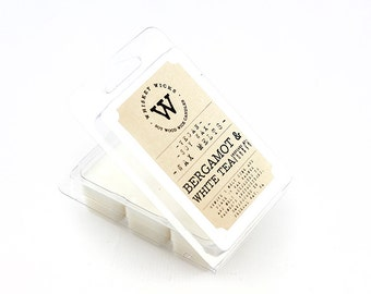 Bergamot & White Tea Soy Wax Melts - Soy Candle, Citrus Wax Melts, Scented Wax Tarts, Bergamot Wax Melts, Tea Candle, Phthalate Free Wax