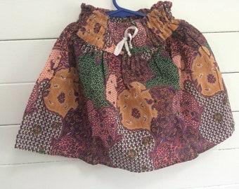 Girls batik style skirt.