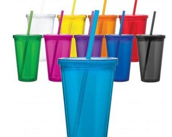 Tumblers with Straw - Personalized
