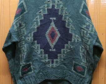 Vintage TIMBERLAND Weathegear  Hand Knit Sweater Made In Uruguay