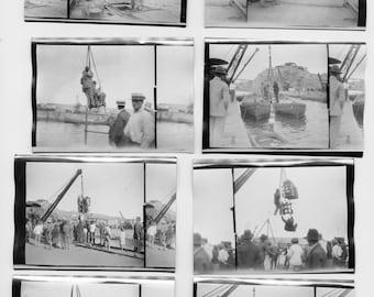 Disembarking the S.S. Orbita in Mollendo, Peru by J. Dearden Holmes, 1920s original Antique Photo Set (8 photos), collectible, historic