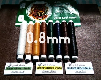 Tiger Thread 0.8mm - Ritza 25 -  Free Shipping + Lowest Price  - Waxed Braided Polyester - Leather Hand Stitching - Tiger Thread