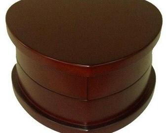 Heart Shaped Wood Jewelry Box 20982