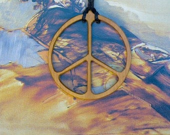 Pendant peace and love olive tree