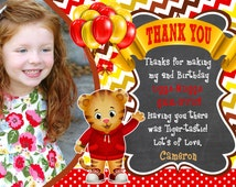 Daniel Tiger Thank You Card Birthday Party Daniel Tiger Me Thank you YOU PRINT Digital File  Invitation also available