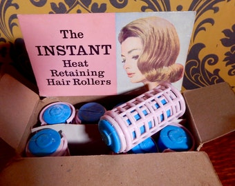 NOW SOLD Vintage, Retro Collectable Hair Rollers , Boho , Shabby Chic, Collectable