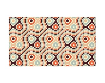 Nice Retro Rug, Psychedelic Pattern, Mid Century Geometric Art, Hippie Geometry  Design, Sixties