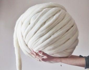 Giant Yarn knitting wool 30+ Colours - extreme knitting merino wool - DIY giant knit blanket - super chunky knitting wool