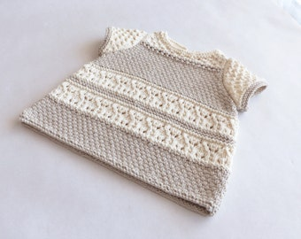 Dress knitting baby girl size 3 months