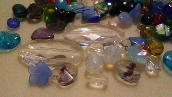 Assorted 5oz Mixed Glass And Crystal Beads Bead Soup