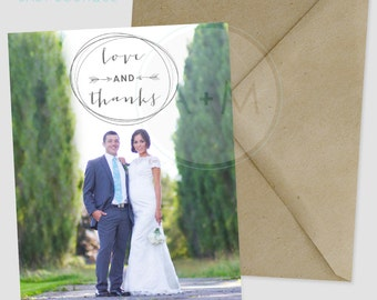 Customized Thank You Template, Photo Thank You, Wedding, Printable, Wedding Thank You, Thank You, LOCKHART