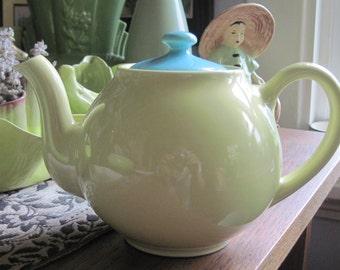 Yellow Vintage Lipton Teapot