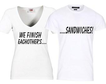 Couples T-shirt Set/ Guy Girl T-shirt Set/ Valentine T-shirt Set