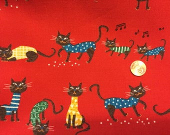 Meow Meow Red By MiyachannK Westex Fabrics