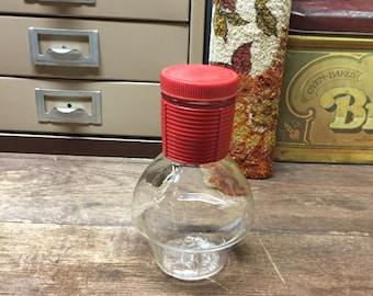 Vintage Glassbake red carafe