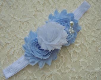blue baby headband,blue baby bows,newborn baby headband,girls headband,flower girl headband,photo shoot headband,toddler headband.babys bows