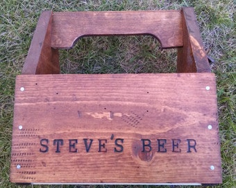 Personalize the other side of the beer caddy too!