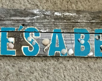 Reclaimed wood sign. Made to order. No saying taboo