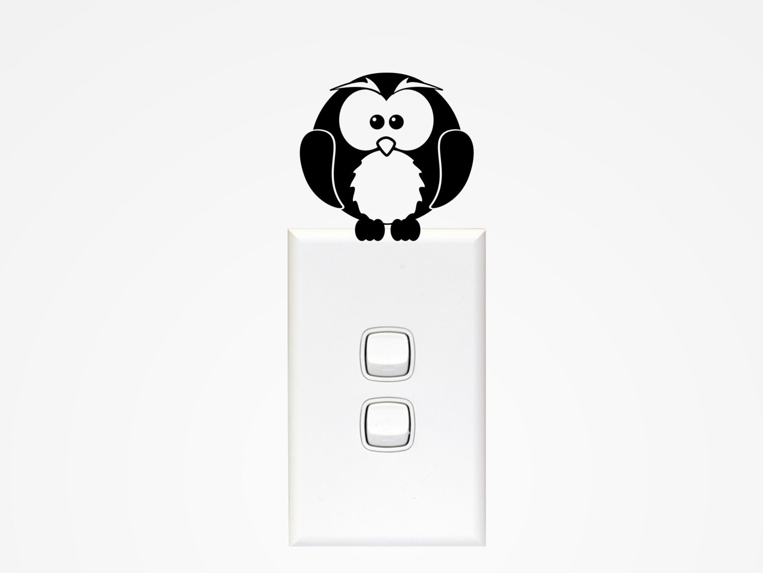 owl power point light switch wall sticker decal bird wall