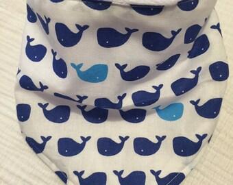 Whales bandana bib