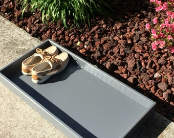 Boot tray - Shoe Storage and Organization - Solid Pine - Choose your paint color - 32x16x3