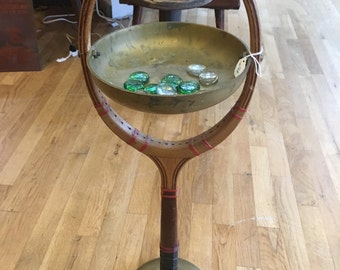 Vintage Tennis Racket Ashtray