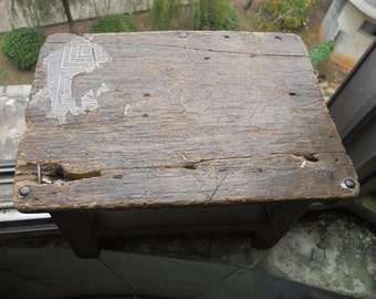 Old  wooden bench Old  Small  square stool  old  benches  old  trunks  SF03