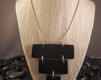 Raku Jewelry - Black Pyramid