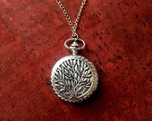 Tree of Life Pocket Watch Diffuser Necklace