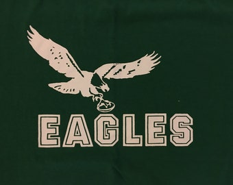 vintage 70s Philadelphia Eagles Graphic t-shirt L * Made in the USA