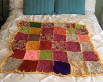 Crochet Throw Blanket - Handmade