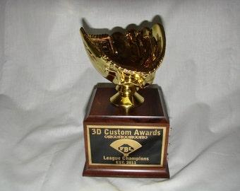 Gold or Silver Fantasy Baseball Rotating Trophy