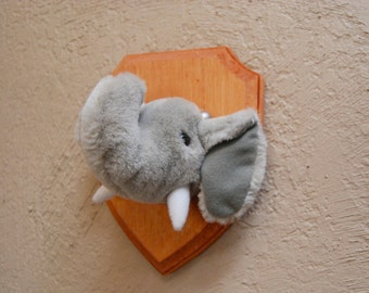 Faux Taxidermy Stuffed Elephant