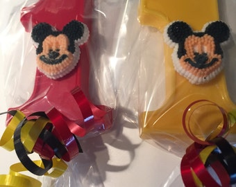 Chocolate Number One lollipops with Mickey