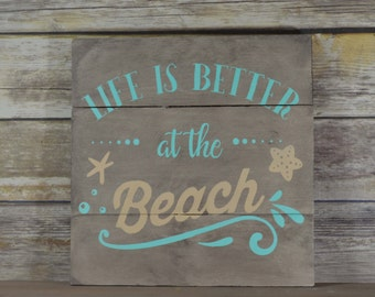 Beach Wall Decor rustic beach | etsy