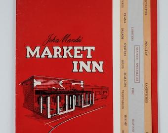 John Mandis' Market Inn Washington DC, 1960's Menu