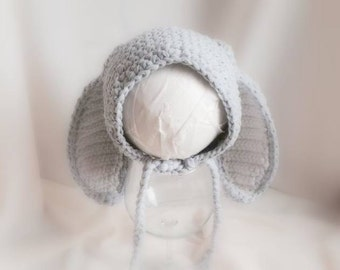 Cod 203Photo prop baby hat, bunny baby hat, baby bonnet, baby photography, accessories, clothing, baby girl hat