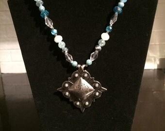 Light Blue Western Necklace