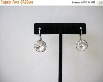 ON SALE Vintage Silver Tone Sparkling Rhinestones Earrings 72816