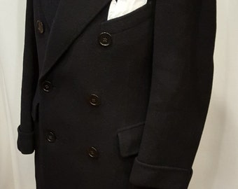 1930s Double Breasted Belted Back Mobster Overcoat-Topcoat Must See!!!
