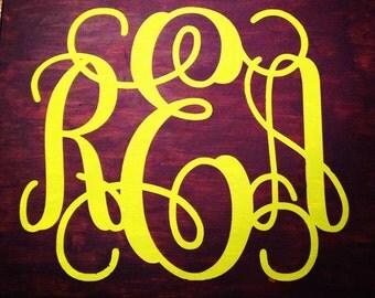8x10 monogram canvas