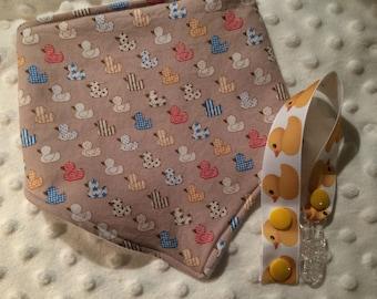 Rubber Duck Bib/Clip Bundle