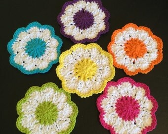 Daisy Coasters -Set of 6