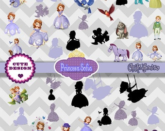 INSTANT DOWNLOAD: Clipart Sofia The Fisth, Sofia The Firsth, Png Sofia The Firsth, for invitations, Candy Bar Labels, School Labels.