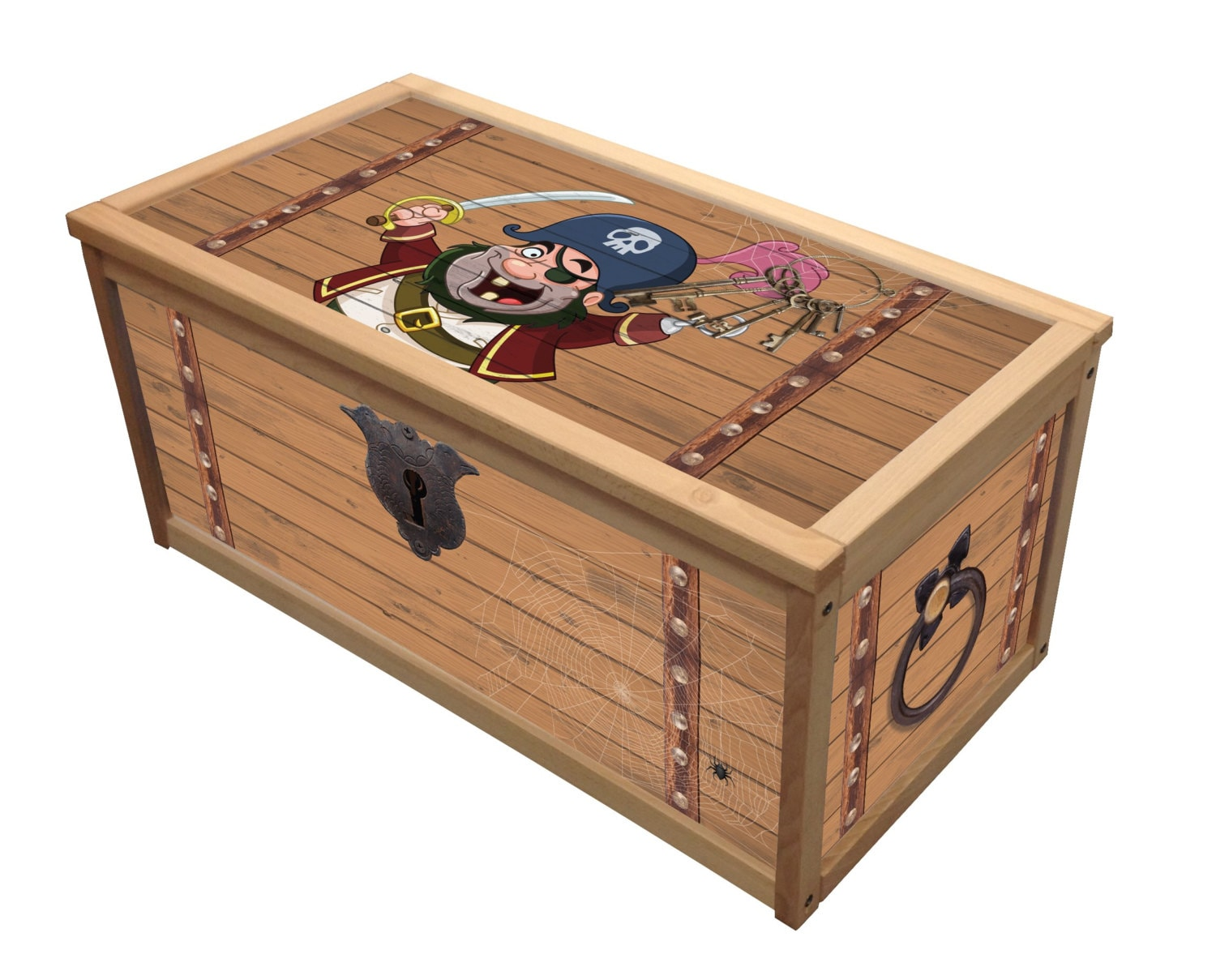 Pirate Treasure Box / Wooden Toy Box / Chest Box by ...