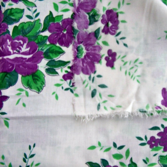 5 8 Meters Of Soviet Floral Fabric In One Listing Vintage